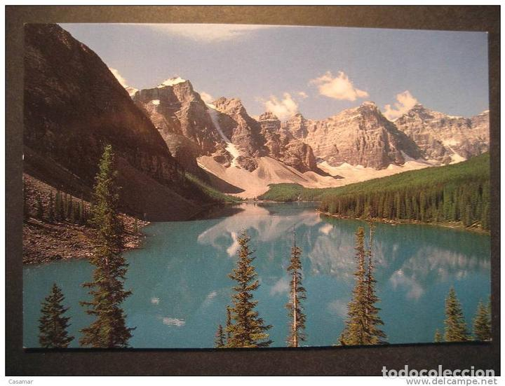 Canada Valley Ten Peaks Moraine Lake Alberta Mountains Montagnes Geology Geologi