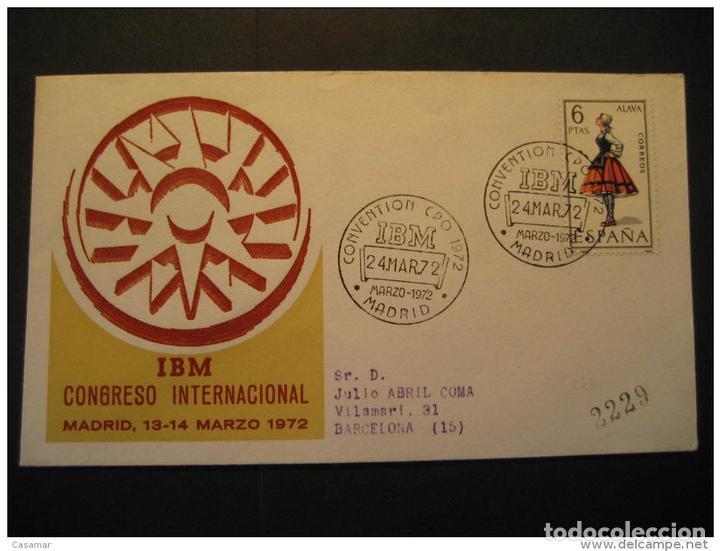 Madrid 1972 IBM Computer Computers Telecom Informatics Spain Cancel Cover segunda mano