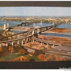 Sellos: MERCIER BRIDGE ST LAWRENCE SEAWAY QUEBEC CANADA POST CARD. Lote 123982088