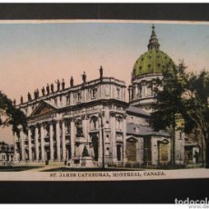 Sellos: ST JAMES CATHEDRAL MONTREAL QUEBEC CANADA POST CARD. Lote 123982096