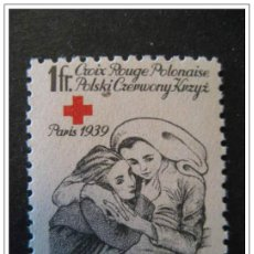 Sellos: PARIS 1939 CROIX ROUGE POLONAISE. Lote 123993830