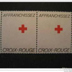 Sellos: AFRANCHISEZ CROIX ROUGE PAIR. Lote 123993834