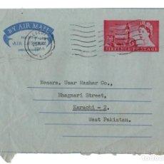 Sellos: ANTIGUO AEROGRAMME AÑO 1966 ENTRE LEEDS EN REINO UNIDO UNITED KINGDOM Y KARACHI EN WEST PAKISTAN VER. Lote 124028571