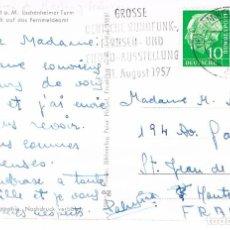 Sellos: ALEMANIA, FERIA DE LA RADIO Y LA TELEVISIÓN EN FRANKFURT, MATASELLO DE 25-7-1957. Lote 127854423