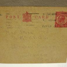 Sellos: TARJETA POSTAL CIRCULADA 1921 INGLESA. Lote 128495600