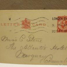 Sellos: TARJETA POSTAL CIRCULADA 1916. Lote 128495656