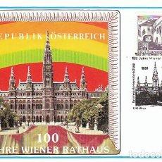 Sellos: AUSTRIA, ALCALDIA DE WIENER, MATASELLO DE 24-9-1983 . Lote 128627455