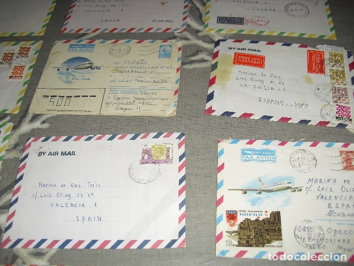 Sellos: lote cartas sobres correo aereo diferentes paises Israel Peru, URss etc - Foto 4 - 129678303
