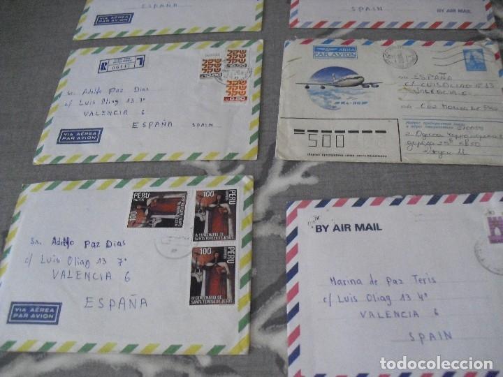 Sellos: lote cartas sobres correo aereo diferentes paises Israel Peru, URss etc - Foto 5 - 129678303