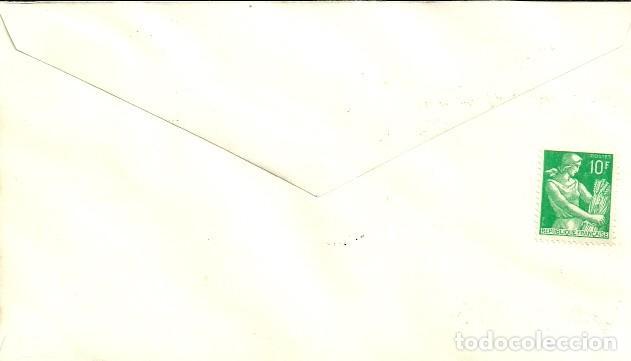 Sellos: SOBRE PRIMER DÍA - PREMIER JOUR D'EMISSION - BARRAGE DE FOUM EL GHERZA - 1959 - Foto 2 - 133043970