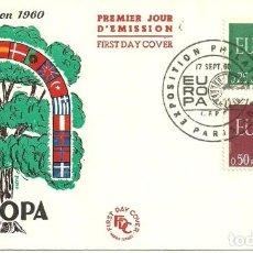 Sellos: SOBRE PRIMER DÍA - PREMIER JOUR D'EMISSION - EUROPA - EMISSION 1960. Lote 133047442