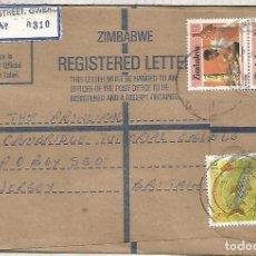 Sellos: ZIMBABWE CC CERTIFICADA SELLOS PEZ FISH ARTESANIA WOOD CARVING. Lote 133721966