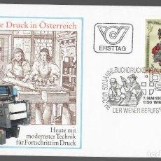 Sellos: SOBRE FDC AUSTRIA (VIENA, 1982) - 500 ANIVERSARIO DE LA IMPRENTA EN AUSTRIA. Lote 133731926