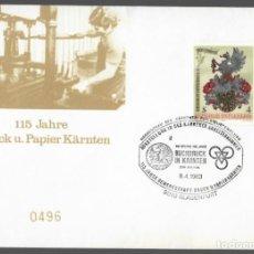 Sellos: SOBRE AUSTRIA (KLAGENFURT, 1983) - ANIVERSARIOS, IMPRENTA: 115 JAHRE DRUCK U. PAPIER KÄRNTEN. Lote 133732362
