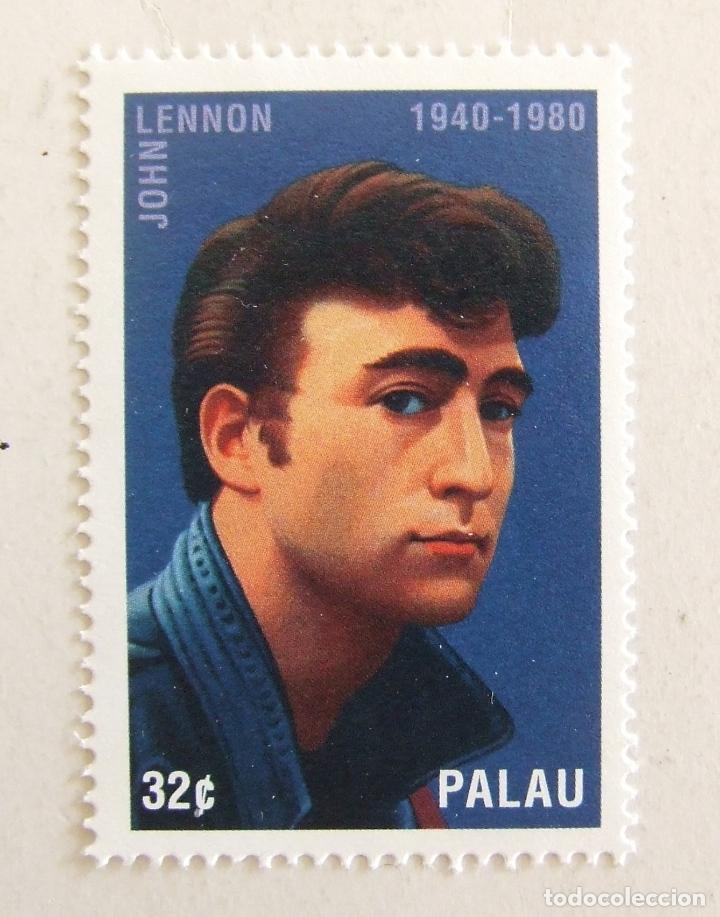SELLO JOHN LENNON DE PALAU BEATLES 32C (Sellos - Historia Postal - Sellos otros paises)