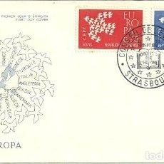 Sellos: SELLO DE PRIMER DÍA - PREMIER JOUR D'EMISSION - EUROPA - STRASBOURG - 1960. Lote 135363582