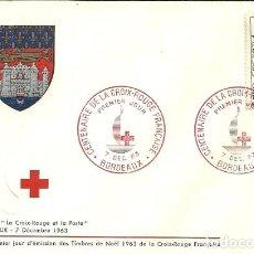 Sellos: SELLO DE PRIMER DÍA - PREMIER JOUR D'EMISSION -CENTENAIRE DE LA CROIX-ROUGE FRANÇAISE - 1963. Lote 135364534