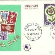 Sellos: SELLO DE PRIMER DÍA - PREMIER JOUR D'EMISSION - LE NOUVEAU NE G. DE LA TOUR - 1966. Lote 135365262