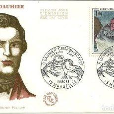 Sellos: SELLO DE PRIMER DÍA - PREMIER JOUR D'EMISSION - HONORÉ DAUMIER - 1966. Lote 135365754