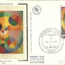 Sellos: SELLO DE PRIMER DÍA - PREMIER JOUR D'EMISSION - R. DELAUNAY - PARIS - 1976. Lote 135417138