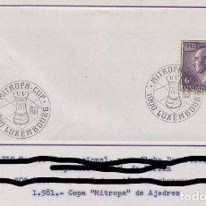 Sellos: AJEDREZ CHESS - LUXEMBURGO 1981 - COPA MITROPA DE AJEDREZ. Lote 137160090