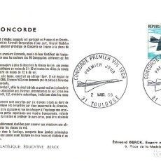 Sellos: CONCORDE PREMIER VOL 1969. PREMIER JOUR. SOBRE PRIMER DIA PRIMER VUELO CONCORDE. 2 MARS 1969. Lote 137410284