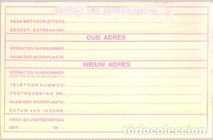Sellos: TARJETA MAT SELLOS SAT KONGRESO1931 AMTERDAM FORMULIER VOOR ADRESWIJZIGING ESPERANTO - Foto 2 - 139478630