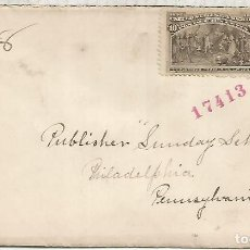 Selos: ESTADOS UNIDOS USA 1893 CC CON SELLO COLON COLUMBUS PRESENTANDO NATIVOS. Lote 139506174