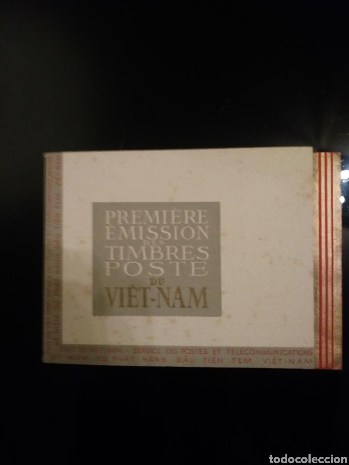 LIBRETO: PRIMERA EDICION DE SELLOS POSTALES DEL VIETNAM/ 1951 (Sellos - Historia Postal - Sellos otros paises)