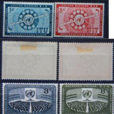 Sellos: ONU NACIONES UNIDAS NEW YORK 1956 .........NU-17. Lote 143369474
