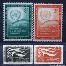 Sellos: ONU NACIONES UNIDAS NEW YORK AÑO 1957 .........NU-38. Lote 143371414