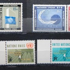 Sellos: ONU NACIONES UNIDAS NEW YORK AÑO 1962 .........NU-82. Lote 143412118