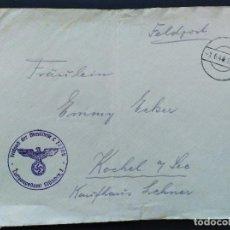 Sellos: SOBRE CIRCULADO ALEMANIA TERCER REICH 1.6.1940 FELDPOST CORREO CAMPAÑA. Lote 147323414