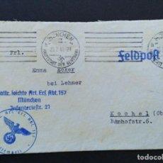 Sellos: SOBRE CIRCULADO ALEMANIA TERCER REICH 1.6.1940 FELDPOST CORREO CAMPAÑA. Lote 147323554