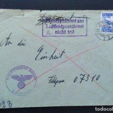 Sellos: SOBRE CIRCULADO ALEMANIA TERCER REICH 31.7.1943 FELDPOST CORREO CAMPAÑA. Lote 147323726