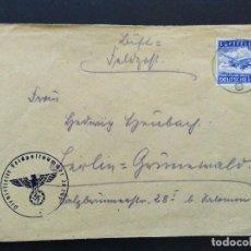 Sellos: SOBRE CIRCULADO ALEMANIA TERCER REICH 23.5.1942 FELDPOST CORREO CAMPAÑA. Lote 147323886