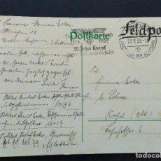 Sellos: TARJETA POSTAL ALEMANIA TERCER REICH 1939 FELDPOST CORREO CAMPAÑA. Lote 147325474