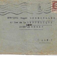 Sellos: CARTA CIRCULADA. 2ª GUERRA MUNDIAL. DE LYON A SR.DENIS BUGEY (FRANCIA) . Lote 147455602