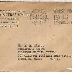 Sellos: REINO UNIDO 1933 CC LONDON MAT BRITISH INDUSTRIES FAIR . Lote 148161698