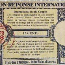 Sellos: CUPON DE RESPUESTA INTERNACIONAL - COUPON REPONSE INTERNATIONAL EEUU. Lote 150914970