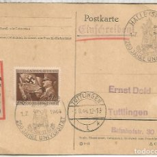 Sellos: ALEMANIA HALLE 1944 250 JAHRE UNIVERSITAT. Lote 156706854