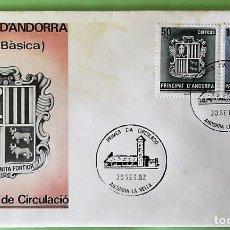 Sellos: ANDORRA E. SPD 155/56 SERIE BÁSICA: ESCUDO DE ANDORRA. 1982. MATASELLO: 30.SET.82 ANDORRA LA VELLA. Lote 156792876