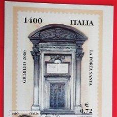 Sellos: ITALIA. TM JUBILEO DE LA PUERTA SANTA. 2000. MATASELLO: ROMA. Lote 157018976
