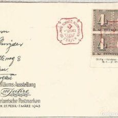 Sellos: SUIZA ZURICH 1943 100 JAHRE SELLOS SUIZA . Lote 161529910