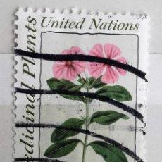 Sellos: NACIONES UNIDAS, 1 SELLO USADO. Lote 161788786