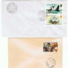 Sellos: LOTE DE 5 SOBRES CIRCULADOS DIFERENTES. AÑOS 80. FALKLAND ISLANDS. BELIZE. DOMINICA, ETC.. Lote 168747092