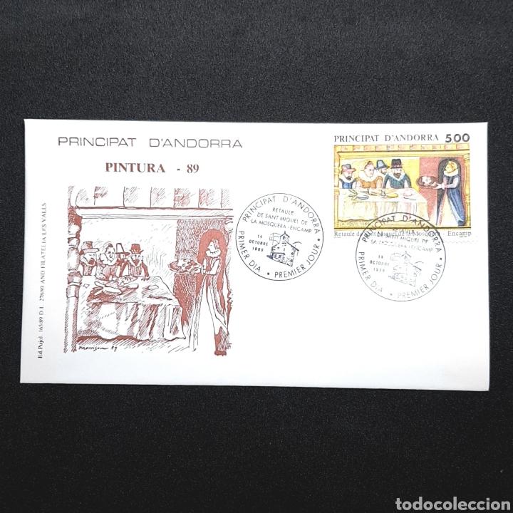 (EGL) SOBRE PRIMER DIA DE CIRCULACIÓN - 1989. ANDORRA (Sellos - Historia Postal - Sellos otros paises)