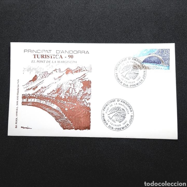 (EGL) SOBRE PRIMER DIA DE CIRCULACIÓN - 1990. ANDORRA (Sellos - Historia Postal - Sellos otros paises)