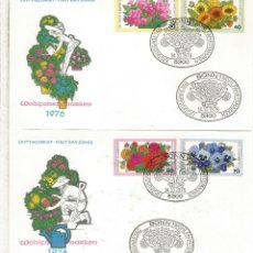 Sellos: ALEMANIA 2 FDC FLORES FLOWER 1976. Lote 173976083