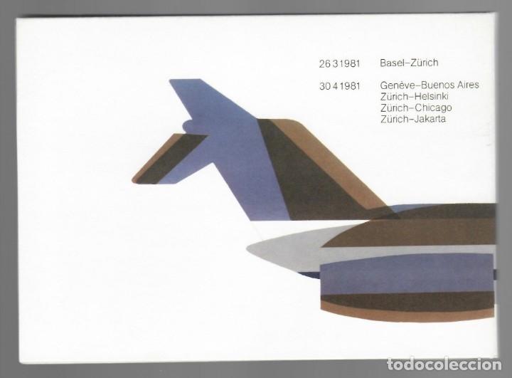 Sellos: Carpeta 5 sobres aéreos Suiza (1981) - Luftpost PTT par avion via aerea: Zürich-Jakarta, Zürich-Hels - Foto 2 - 175981639